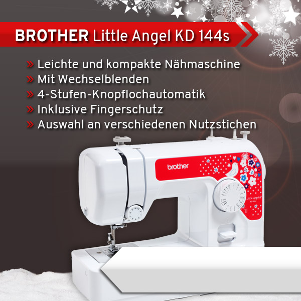1 BROTHER Little Angel KD 144s xs + sm