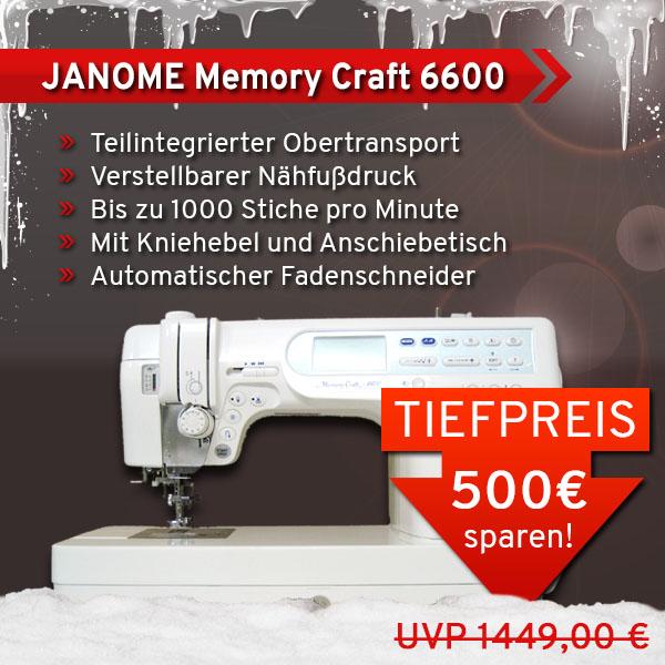 1 JANOME Memory Craft 6600 xs+sm