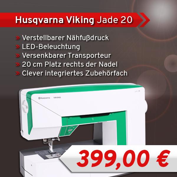 1 Husqvarna Viking Jade 20 xs + sm