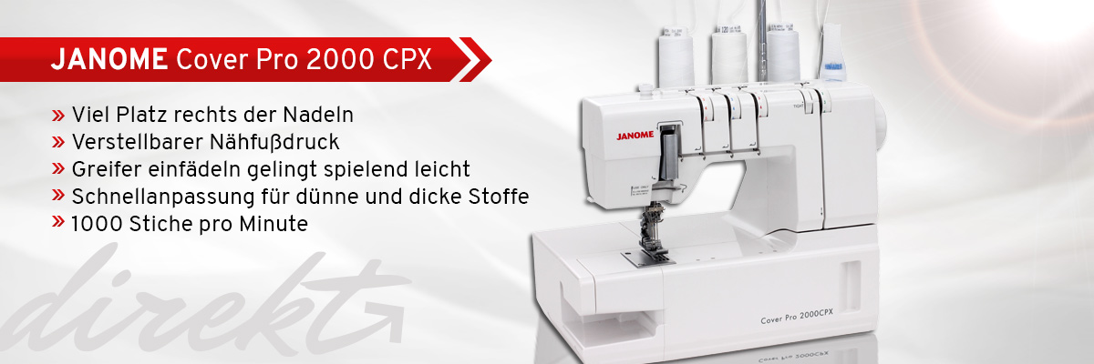 1 Janome Cover Pro 2000 CPX